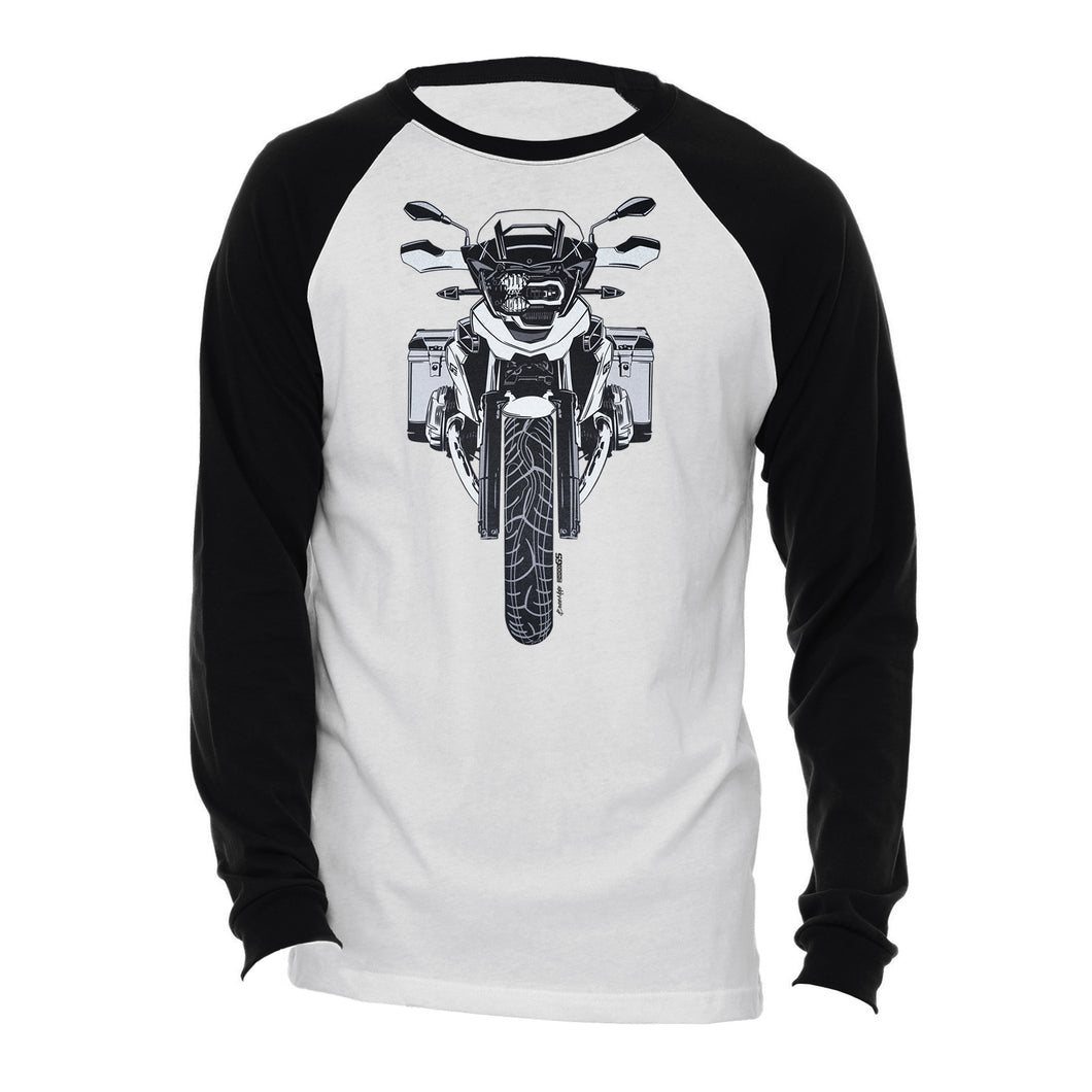 BMW GS Color Logo Motorcycle Long Sleeve Tee Shirt
