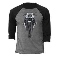 BMW R nine T Cafe Racer Color Motorcycle 3/4 Baseball Tee Shirt