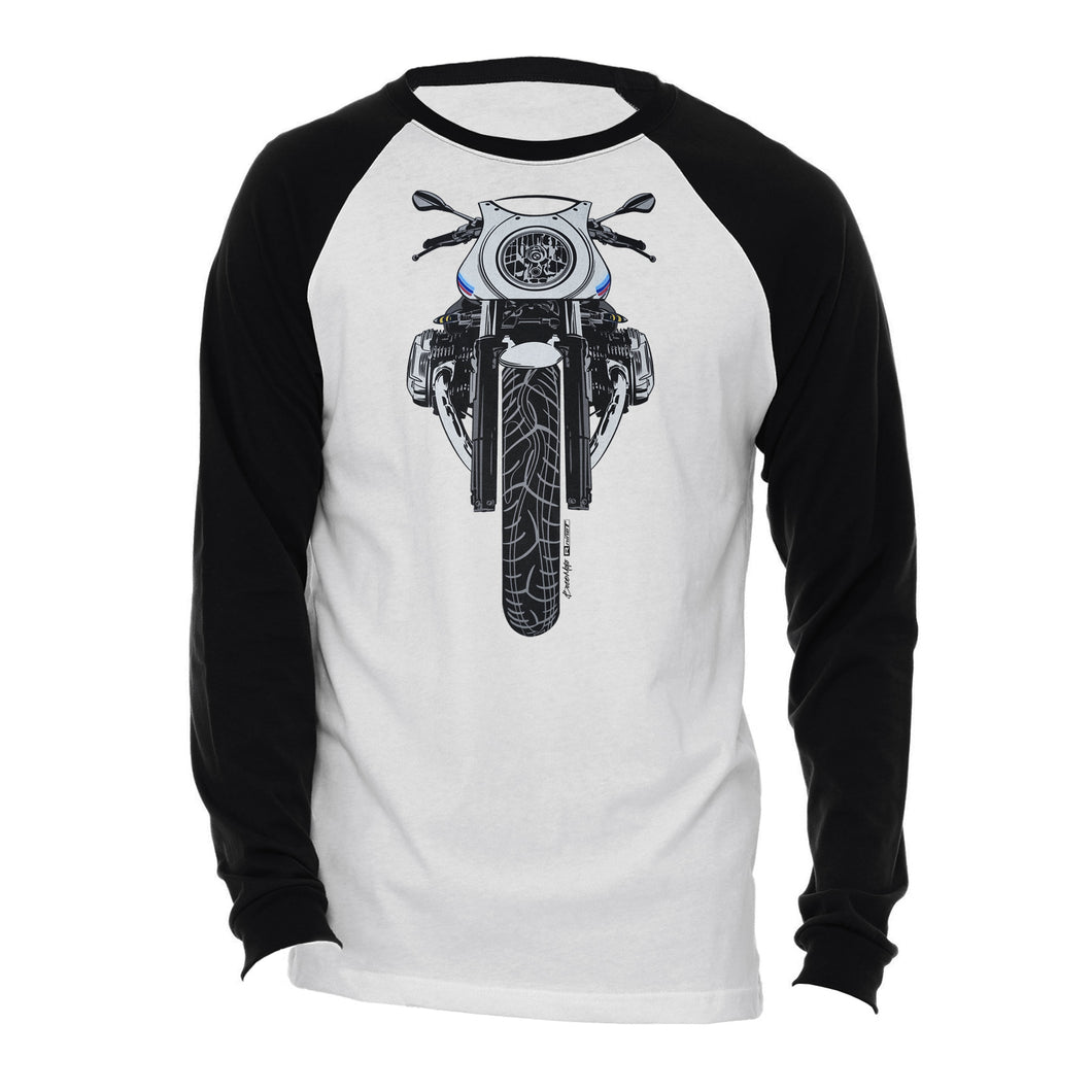 BMW R nine T Cafe Racer Color Motorcycle Long Sleeve Tee Shirt