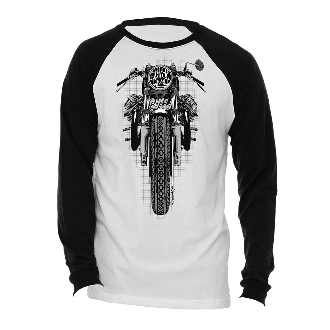 Moto Guzzi Motorcycle Long Sleeve Tee Shirt
