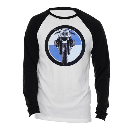 BMW R nine T Cafe Racer Logo Motorcycle Long Sleeve Tee Shirt