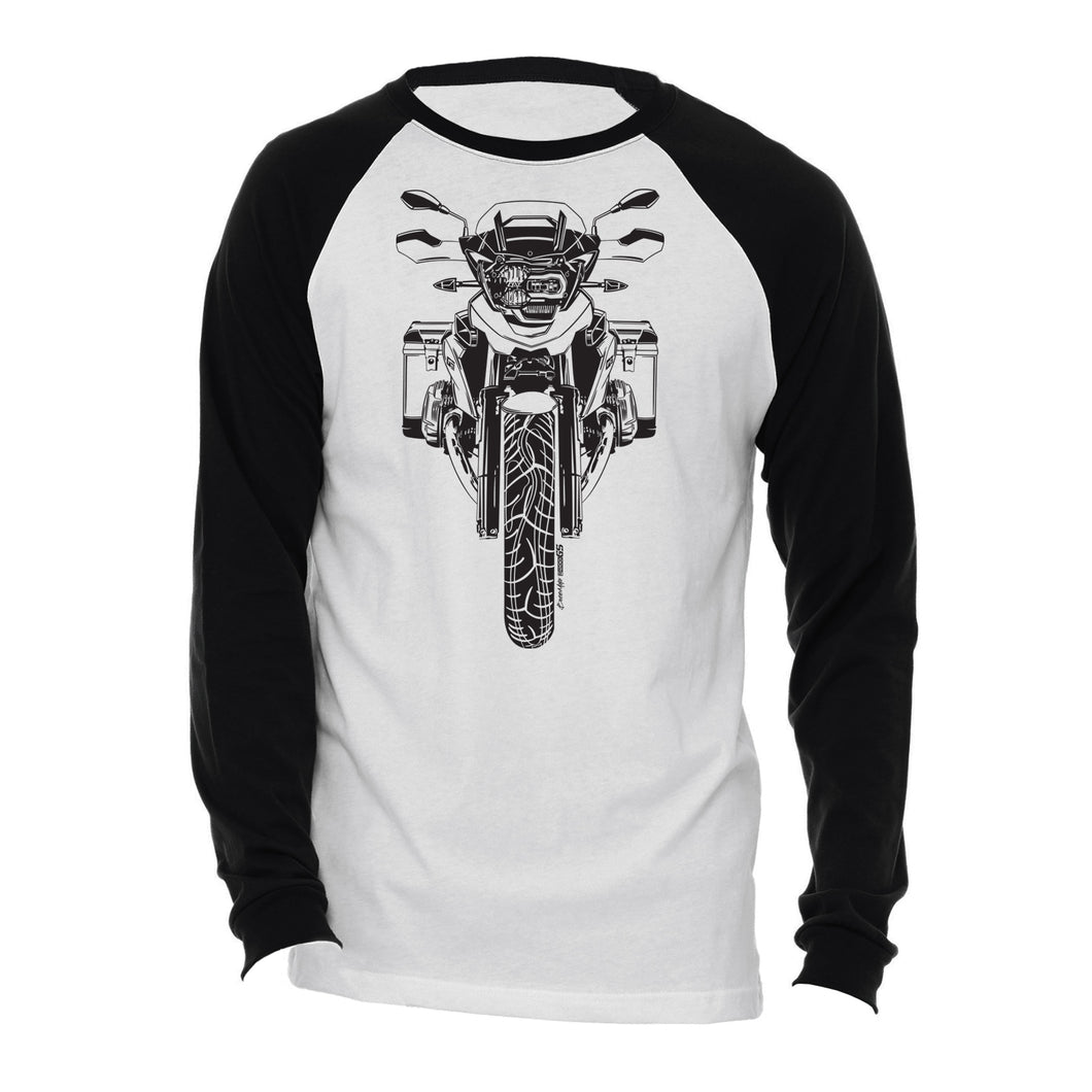 BMW GS Black Logo Motorcycle Long Sleeve Tee Shirt