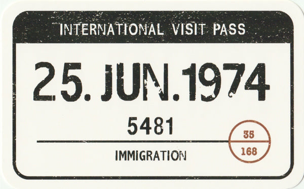 Travel Memories - T02 - International Visit Pass Postcard