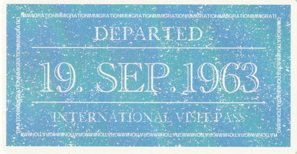 Travel Memories - T03 - International Visit Pass Postcard