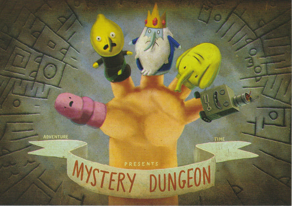 Adventure Time Postcard - Mystery Dungeon