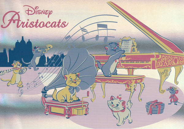 Disney - Aristocats Marie Music Band Shiny Postcard