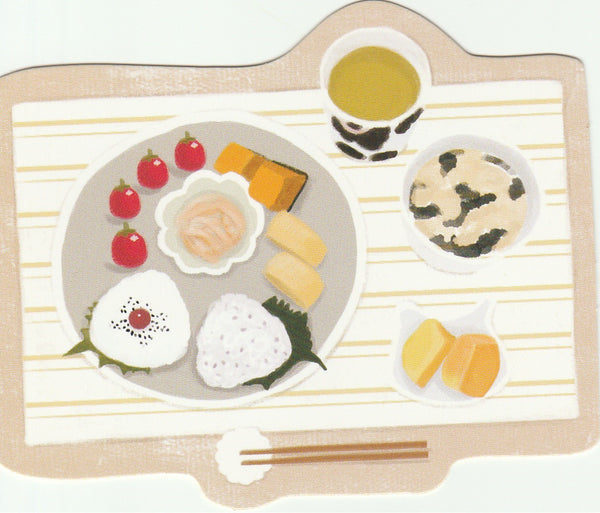 Japanese Bento Lunch Boxes Mini Postcard (BB13)