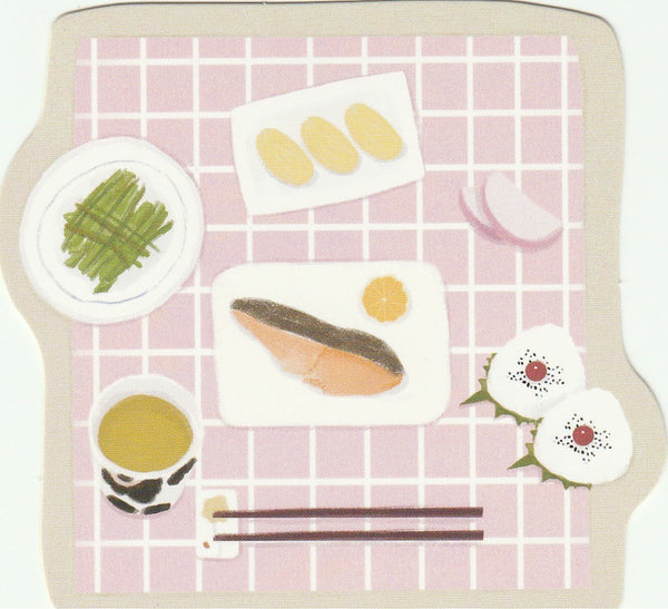 Japanese Bento Lunch Boxes Mini Postcard (BB15)