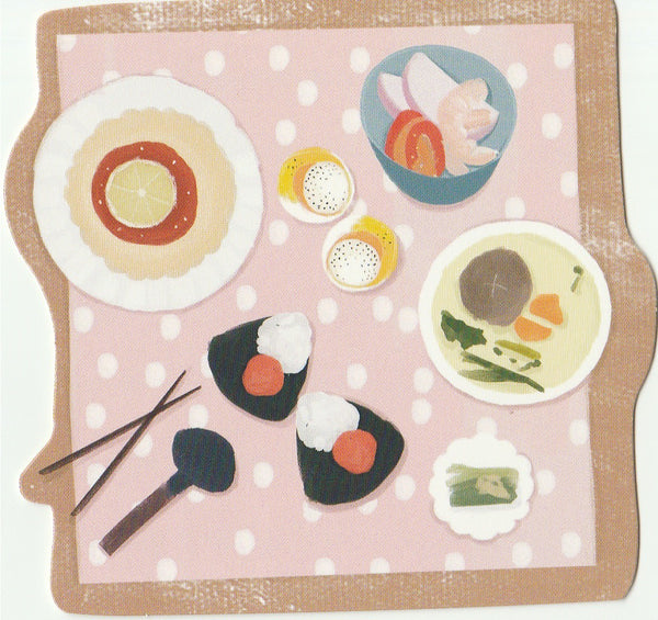 Japanese Bento Lunch Boxes Mini Postcard (BB17)