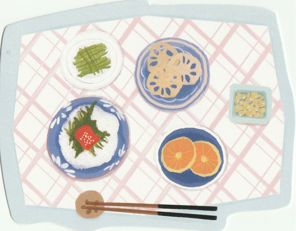 Japanese Bento Lunch Boxes Mini Postcard (BB21)