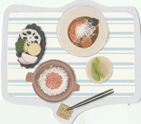 Japanese Bento Lunch Boxes Mini Postcard (BB25)