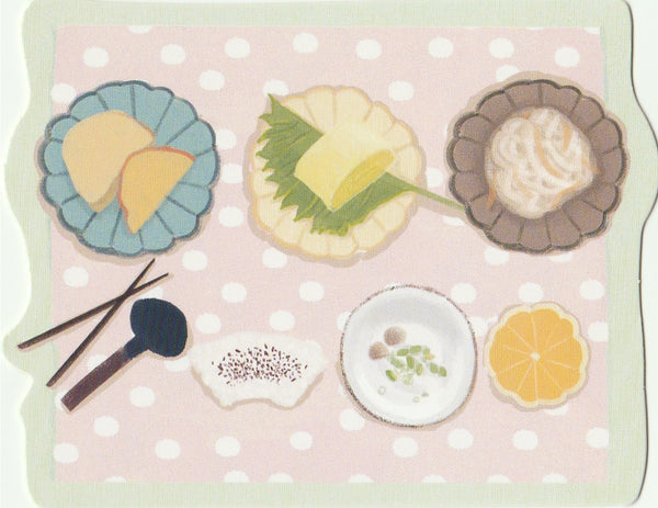 Japanese Bento Lunch Boxes Mini Postcard (BB26)