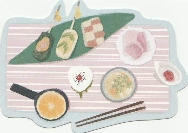 Japanese Bento Lunch Boxes Mini Postcard (BB30)