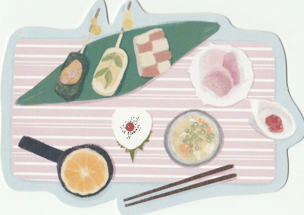 Japanese Bento Lunch Boxes Mini Postcard (BB04)