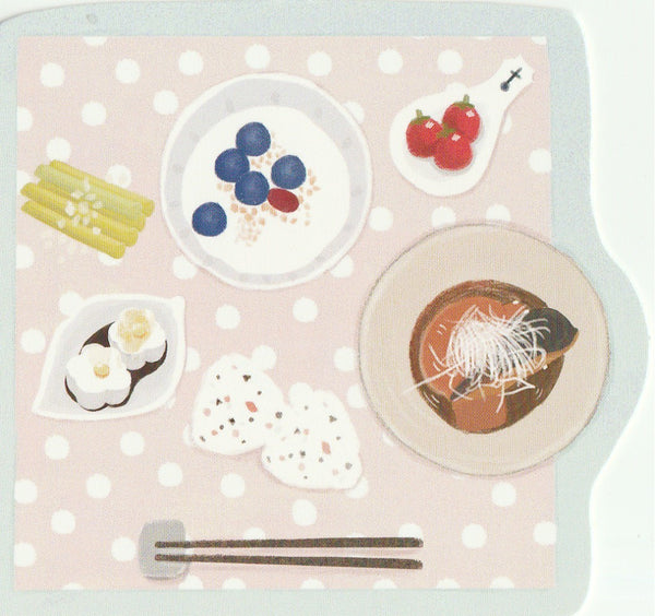 Japanese Bento Lunch Boxes Mini Postcard (BB05)