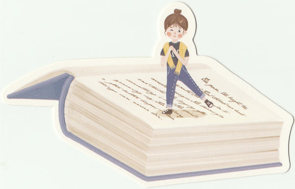 Bookmark Girl Series 16 - Dancing on pages