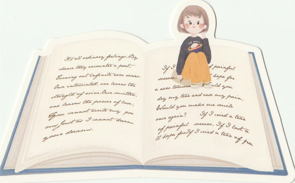 Bookmark Girl Series 22 - Sitting on the pages