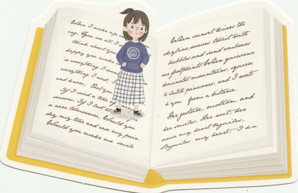 Bookmark Girl Series 27 - Reading through the lines