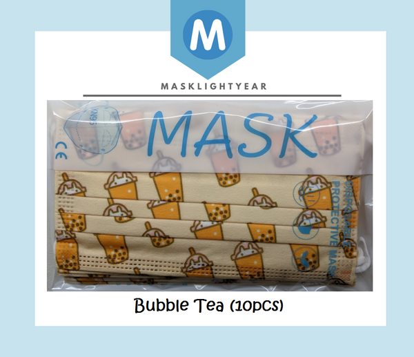 Boba Bubbletea | Adult 3ply disposable single-use face mask (10pcs)