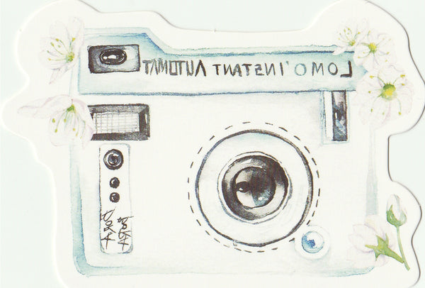 Camera Illustration Collection Mini Postcard (XJ22)