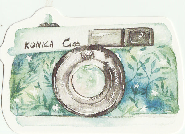Camera Illustration Collection Mini Postcard (XJ23)
