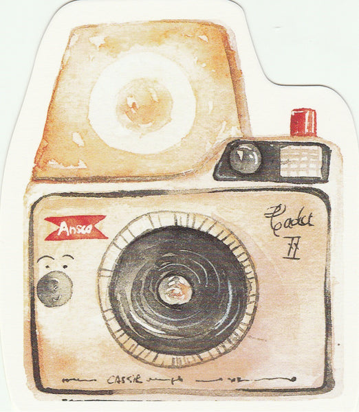 Camera Illustration Collection Mini Postcard (XJ29)