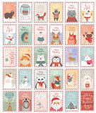 Christmas Animals Postcard - Snowman Joyful