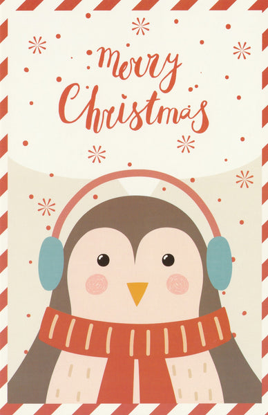 Christmas Animals Postcard - Penguin