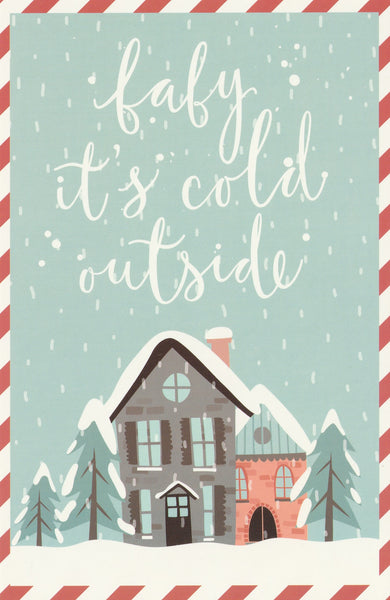 Christmas Animals Postcard - Baby It's Cold Outside