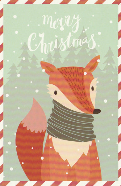 Christmas Animals Postcard - Fox