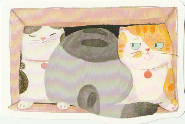 Kitty Cats in the Backyard - Cartoon Postcard (BC21)