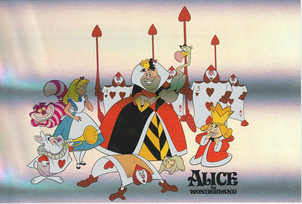 Disney - Alice in Wonderland Red Queen Shiny Postcard