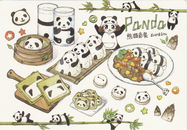 Ever & Ein Postcard - Food Series - Panda Bread