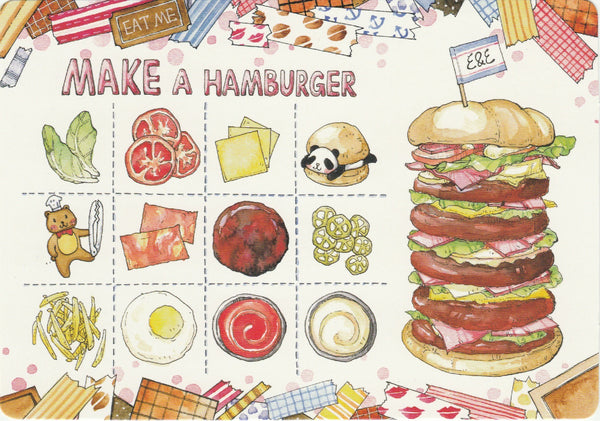 Ever & Ein Postcard - Food Series - Make a Hamburger