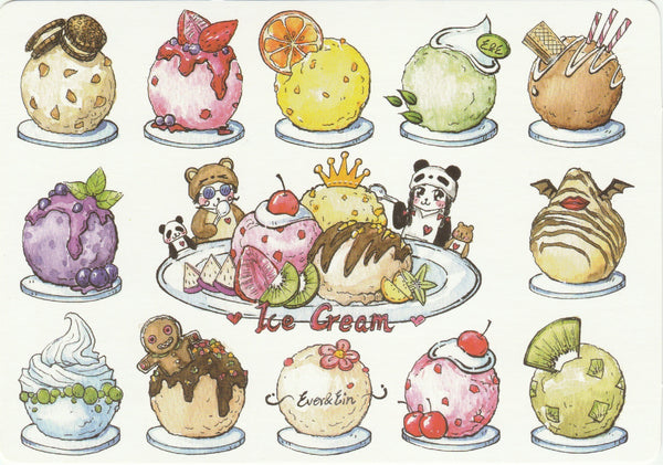 Ever & Ein Postcard - Dessert Series - Ice Cream Buffet