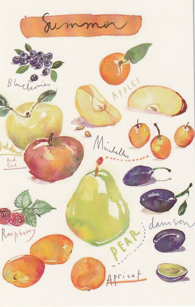 Food Recipe Postcard - Seasonal Summer Ingredients