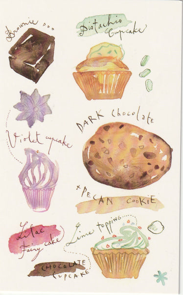 Food Recipe Postcard - Pistachio Cupcake