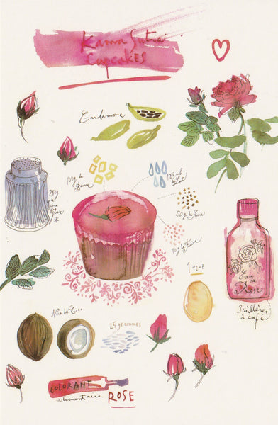 Food Recipe Postcard - Kamasutra Cupcakes