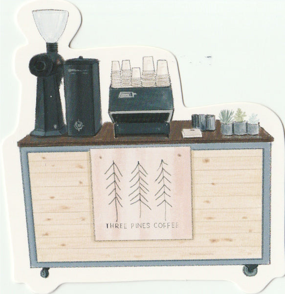 Food Trucks Postcard Collection - Three Pines Coffee
