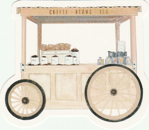 Food Trucks Postcard Collection - Coffee Beans Tea