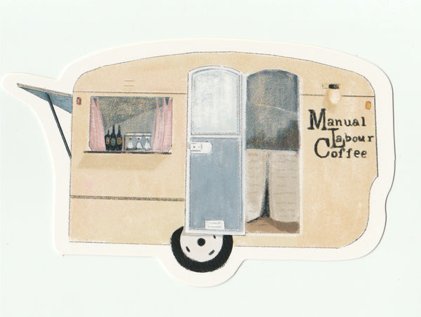 Food Trucks Postcard Collection - Manual Labour Coffee