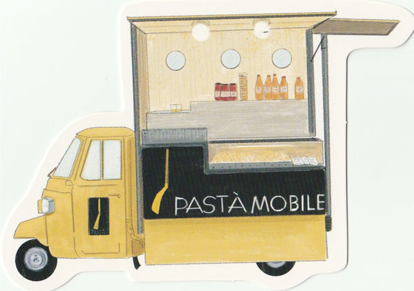 Food Trucks Postcard Collection - Pasta Mobile