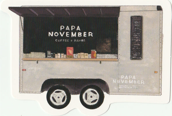 Food Trucks Postcard Collection - Papa November