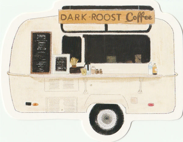 Food Trucks Postcard Collection - Dark Roost Coffee