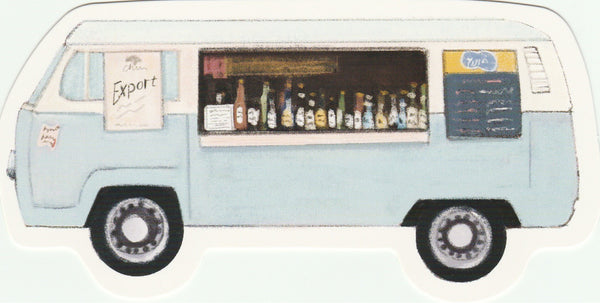 Food Trucks Postcard Collection - Booze Truck