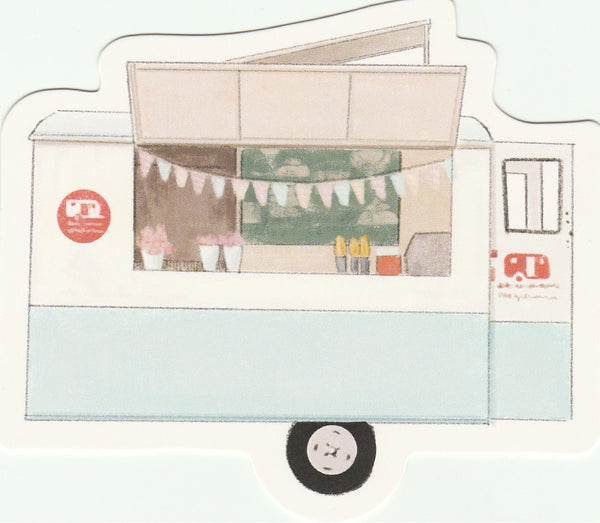 Food Trucks Postcard Collection - Candy Floss