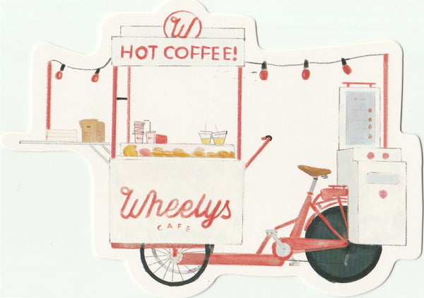 Food Trucks Postcard Collection - Wheelys Cafe (Hot Coffee!)