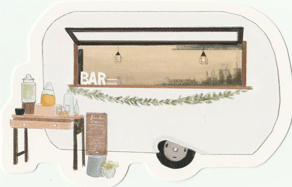 Food Trucks Postcard Collection - Caravan Bar