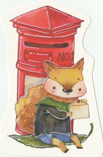 Animal Postcard (Mr Fox)