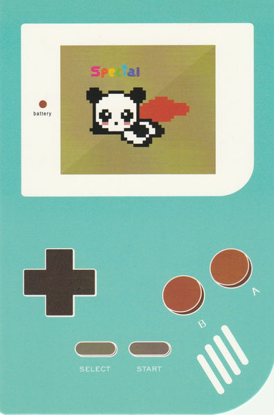 Gameboy Console Postcard - Special Panda
